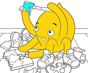 Puzzles coloring pages