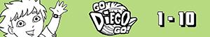 Count from 1 to 10 with Diego and animals coloring pages