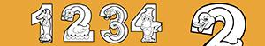 Numbers as animals coloring pages