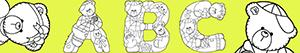 Letters with bears coloring pages