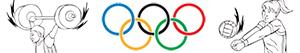 Olympic sports. Miscellaneous coloring pages