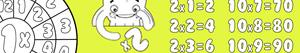 Multiplication tables coloring pages